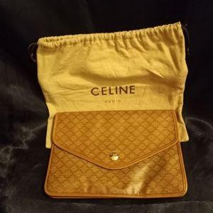CÉLINE Signature Macadam Envelope Clutch